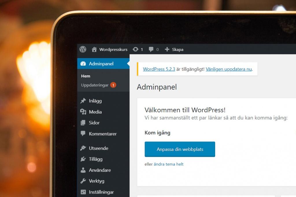 Skapa hemsida med WordPress